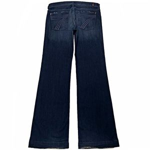 7 For All Mankind Dojo 31X35.5 XL Long Flare Jeans